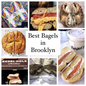 Collage of some of the best bagels in Brooklyn