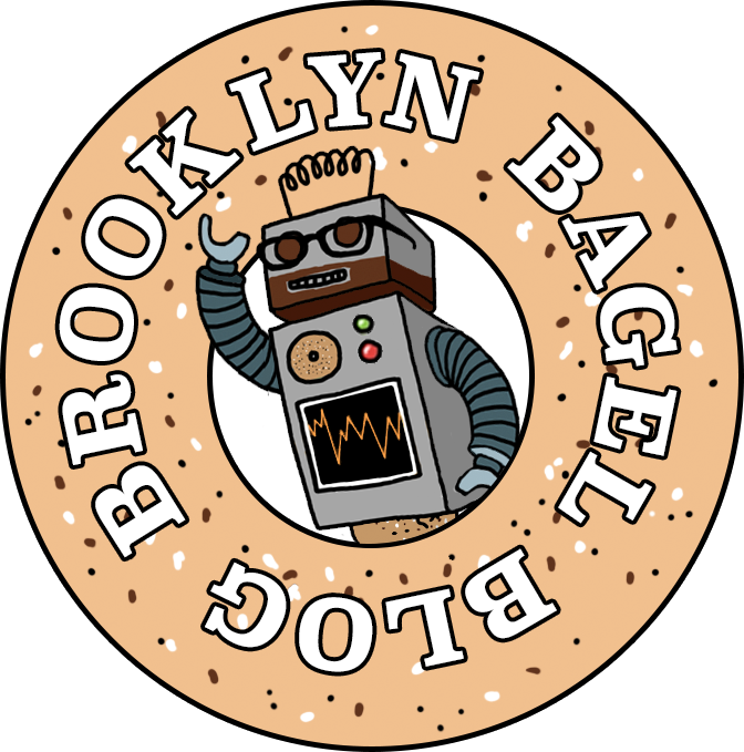 Robot popping out of an everything bagel