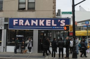 Outside of Frankel's in Greenpoint