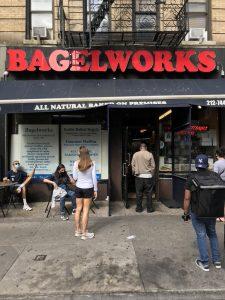 Outside of Bagel Works in Upper East Side