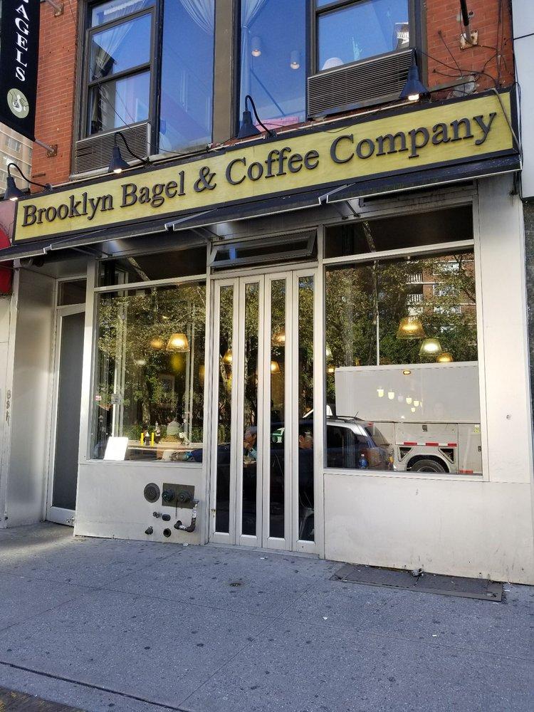 Outside of Brooklyn Bagel & Coffee Company in Chelsea