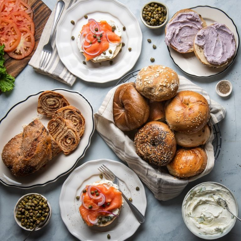 Brunch spread from Ess-a-Bagel