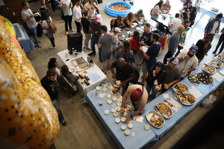 Birds eye view of Brooklyn BagelFest